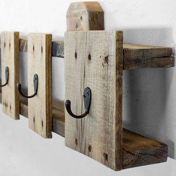 Coat Hooks Reclaimed Wood Coat Rack Entryway Coat Hooks Pallet Furniture Deco Palette Bois Decoration Maison Diy Deco