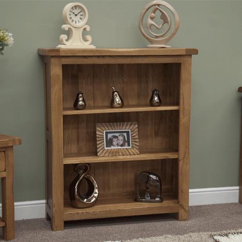Original Rustic Oak Small Bookcase | Home | Small bookcase ...