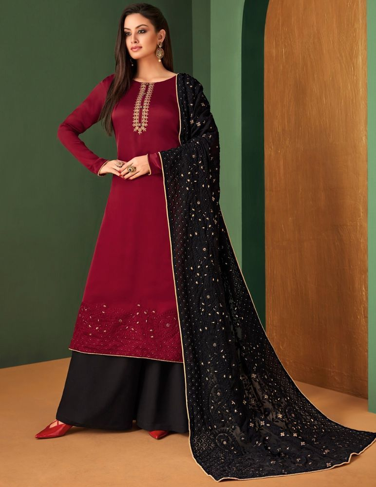 68dc036edf Designer Palazzo Pakistani Salwar Kameez Suit Traditional Indian  Embroidered #NA #Palazzo