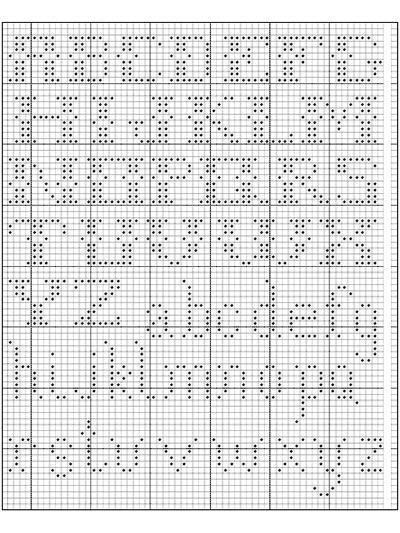 Alphabet in Filet Crochet I (free crochet pattern): filet crochet ...