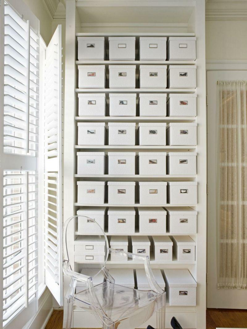 zum aufbewahren der schuhe ein regal aus schuhschachteln bauen originelles diy m bel. Black Bedroom Furniture Sets. Home Design Ideas