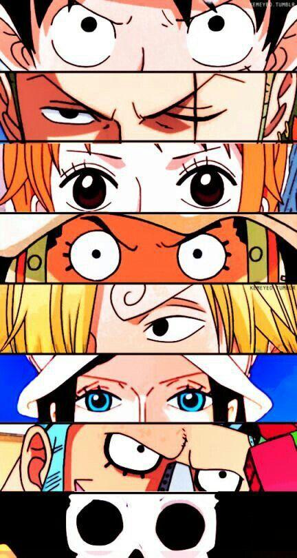 Luffy Zoro Nami Usopp Sanji Robin Franky Brook Eyes Straw Hat Pirates Mugiwara Kai Manga Anime One Piece One Piece Wallpaper Iphone One Piece Drawing