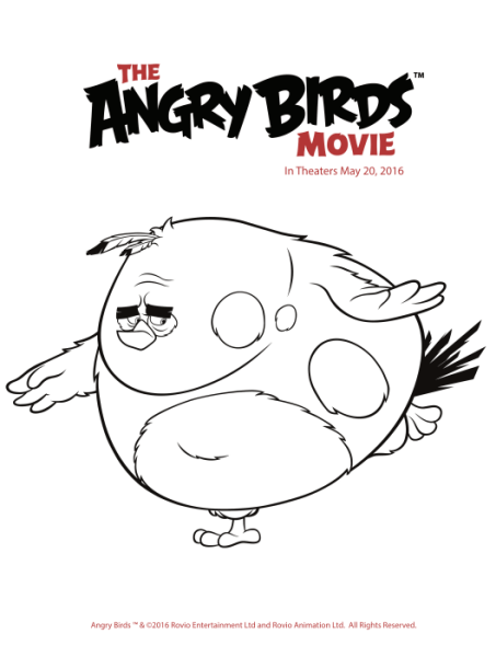 Free Angry Birds Coloring Pages Printables Angry birds Bird app