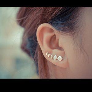 Free People Jewelry - Moon Phase Sterling Silver Earrings/ cuff
