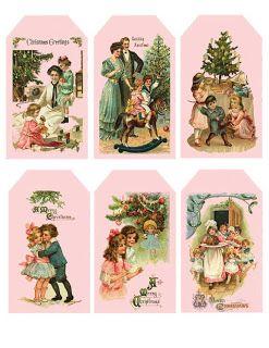 Shabby Chic Pink and Home: ASI Shabby Pink - Tiempo de Navidad ETIQUETAS