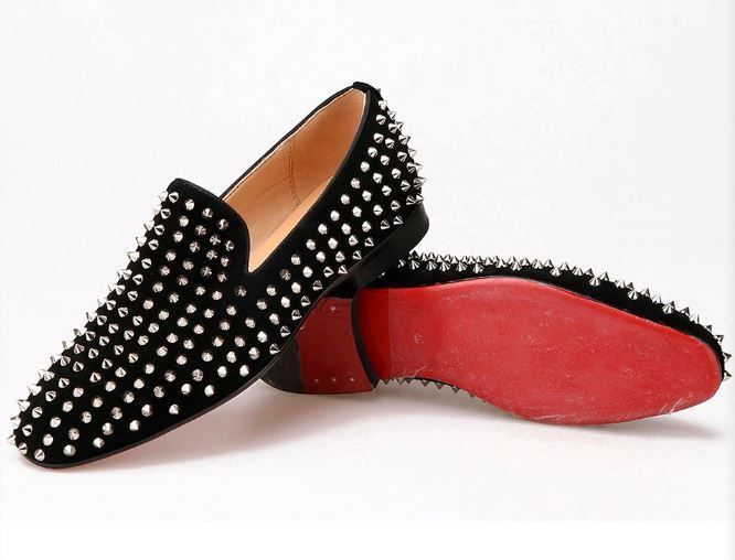 Men Gentleman Faux Suede Slip On Studded Shoes Leather Lined Rhinestones Loafers