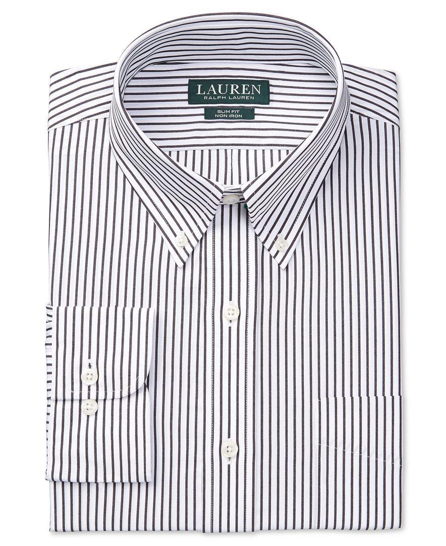 980d84f7 Lauren Ralph Lauren Slim-Fit Non-Iron Stripe Dress Shirt   Products ...