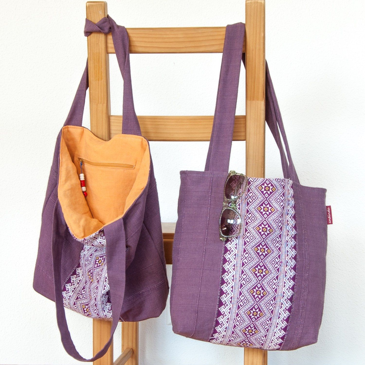 A lovely soft but durable summer tote. Great gift for mother's day. Two are available.