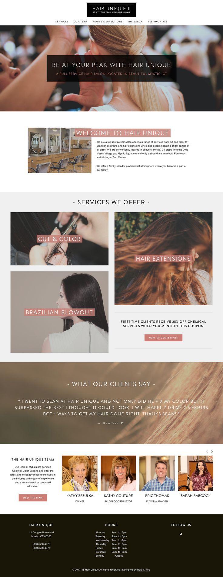 Hair Unique Website Design Bold Pop Social Media Branding And Squarespace Website Design Hair Salon Website Design Squarespace Website Design Website Design Inspiration