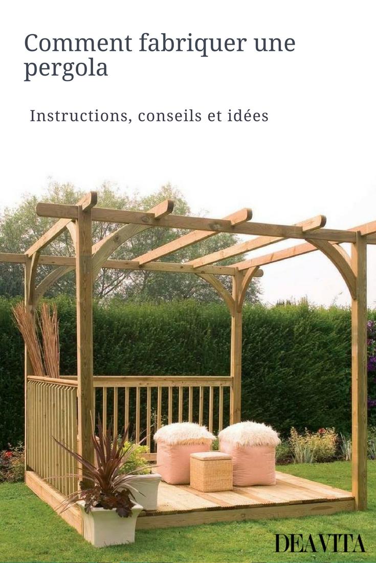 Fabriquer Une Tonnelle En Bois fabriquer une pergola en bois – plans, instructions et idées