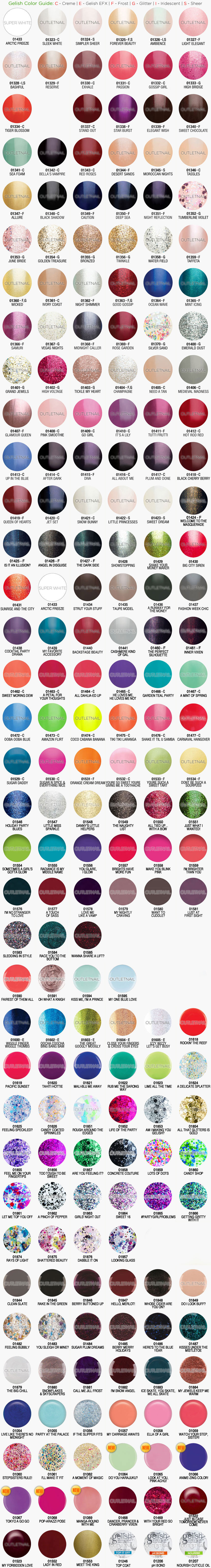 outletnail items - Get great deals on Gelish Harmony Color Chart ...