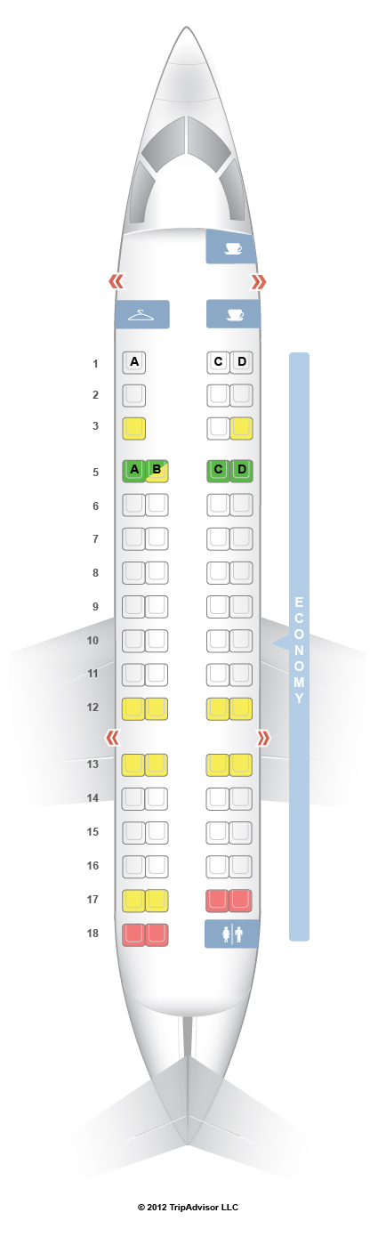 SeatGuru Seat Map American Airlines Bombardier CRJ700