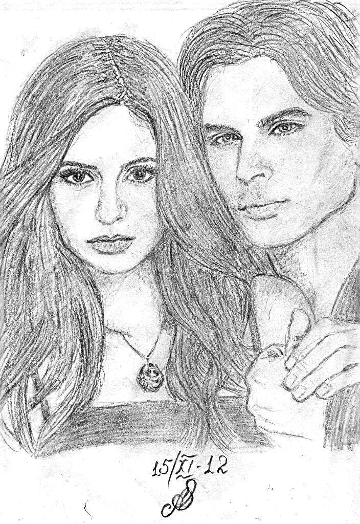 Pgaliexfux4 By Aes25 On Deviantart Vampire Drawings Vampire Diaries Sketches
