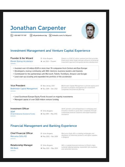 Modern Resume Design Resume design, Free resume builder