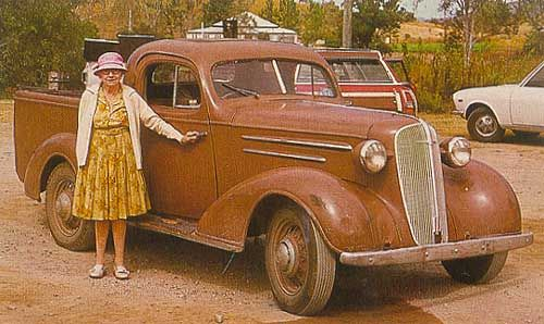 1936 Chev Master Deluxe Coupe Ute With The Original Owner Someone Started To Restore It Last Time I Saw I Vintage Pickup Trucks Vintage Trucks Chevy Trucks