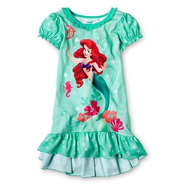 28fd2de314 NWT Girls Disney Princess Little Mermaid Ariel Nightgown - Size 4 ...