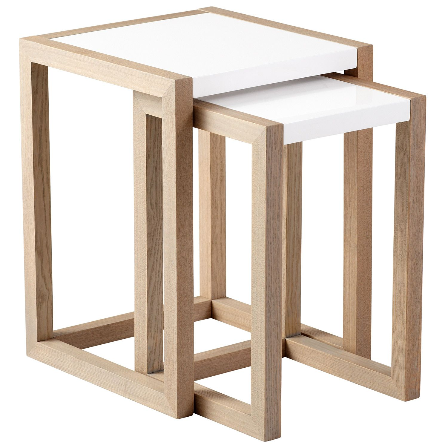 Becket Gray & White Nesting Tables Set Of 2 #Zincdoor