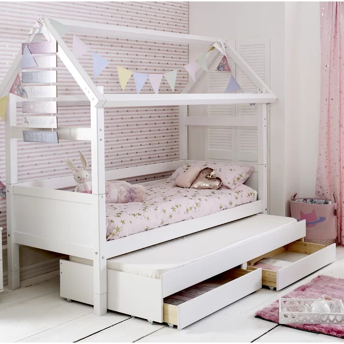 Booth European Single House Bed with Trundle and Drawers