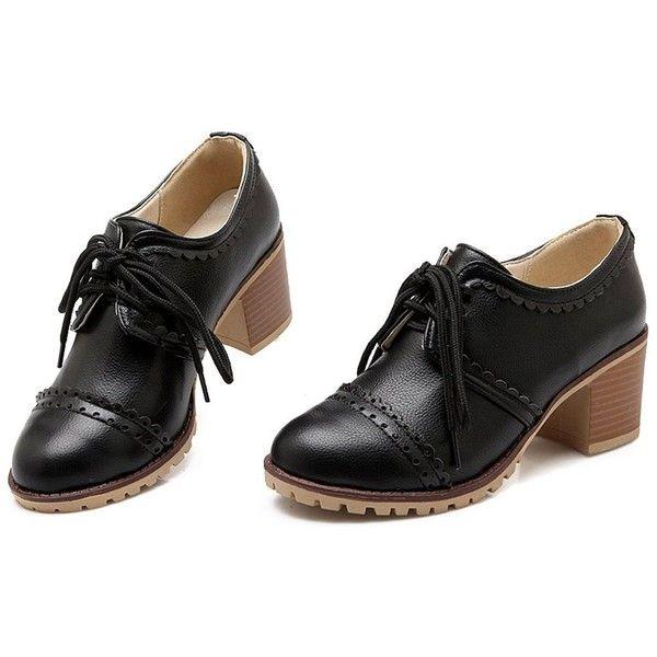 9600e6eb7967 Amazon.com   Susanny Classic Retro Pu Oxfords Brogue Shoes Women's ...