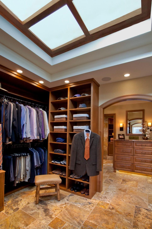 16 stylish men's walk-in closet ideas | closets & organization