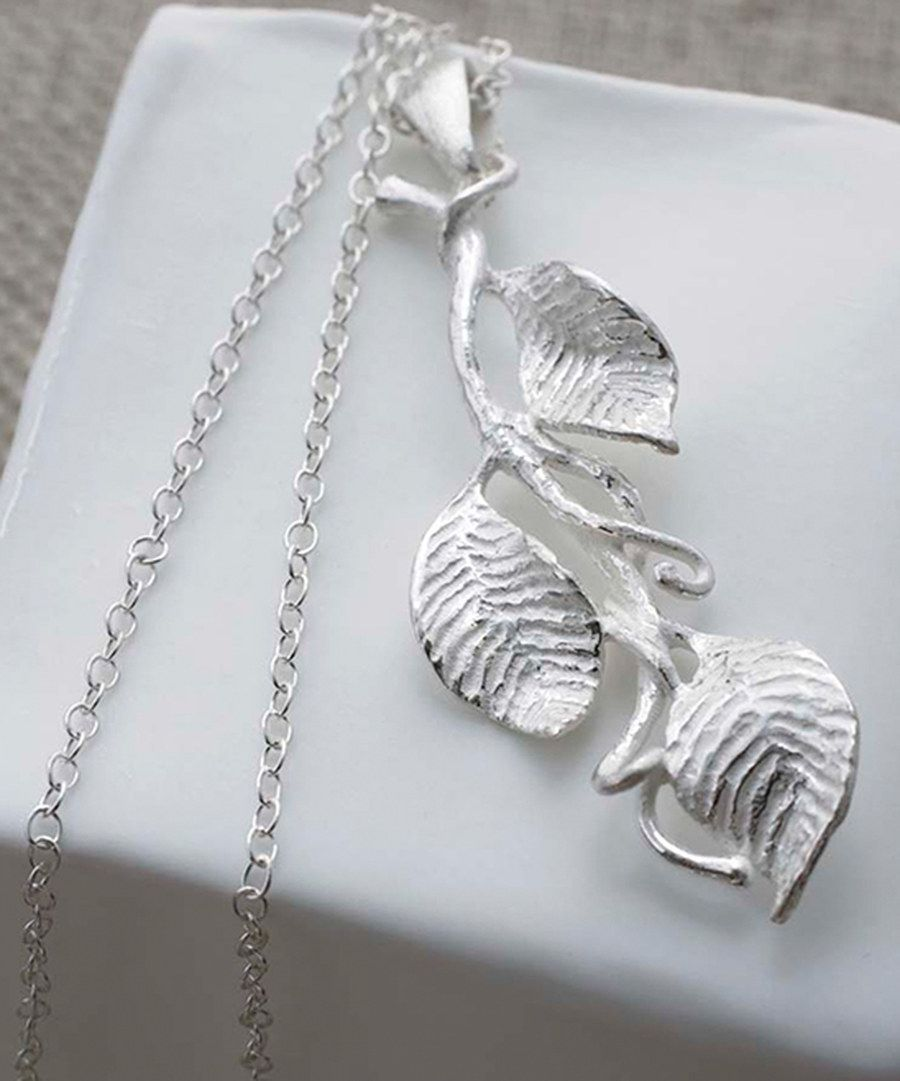Look at this Sterling Silver Leaves Pendant Necklace on #zulily today!