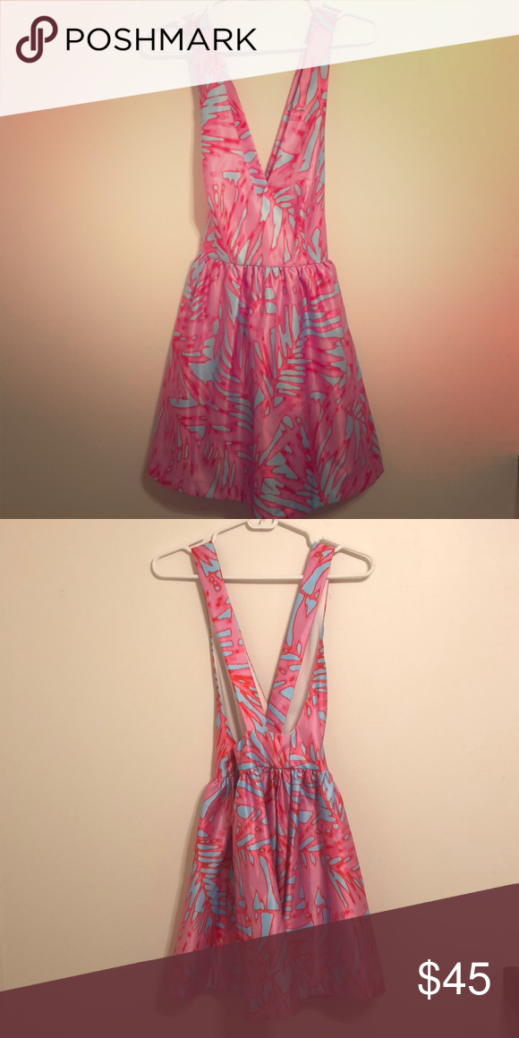 a4b99b0927 DVF pink orange silk bamboo sleeveless coverup in 2018
