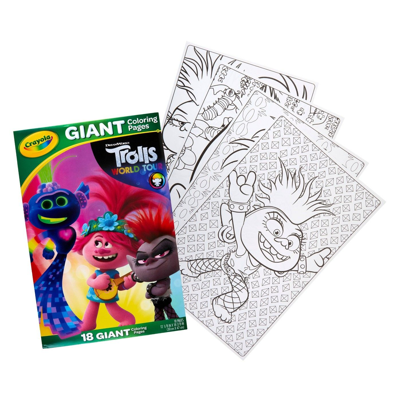 Crayola Giant Coloring Pages   Trolls 18   Coloring pages, Crayola ...