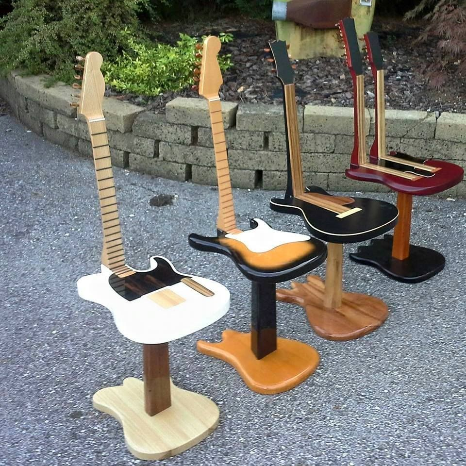 Guitar Stools Really Cool Music Furniture Pinterest