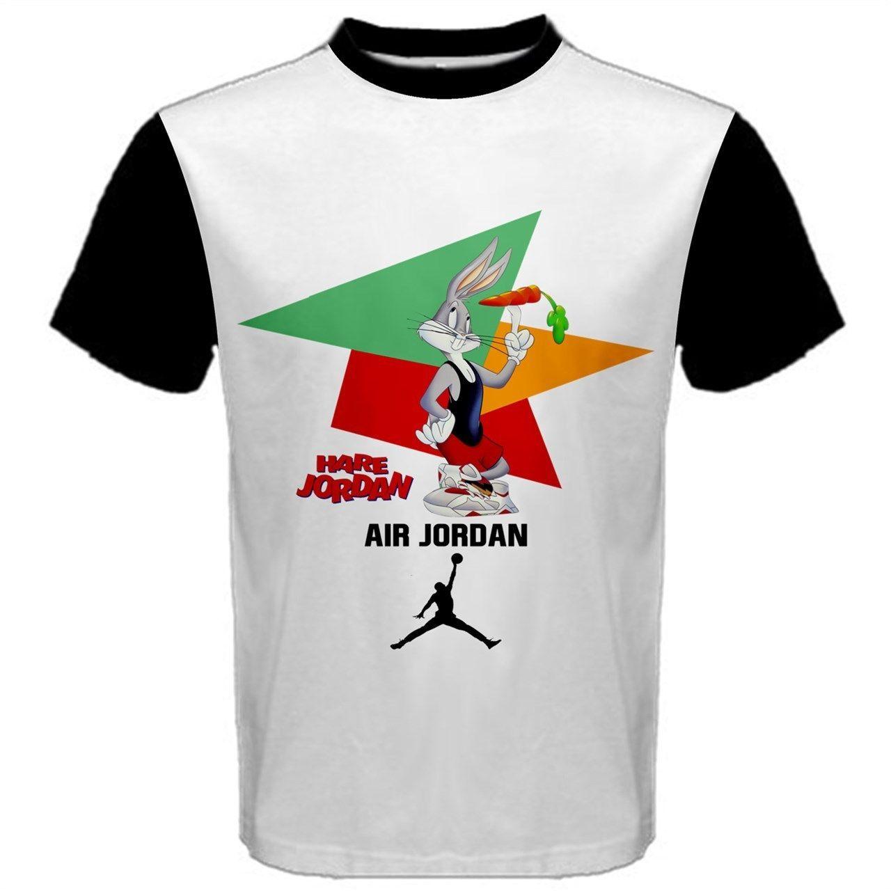 799d0b4b604c New Air Jordan 7 Bugs Bunny Custom Retro 23 Hare Mens Unisex T Shirt ...