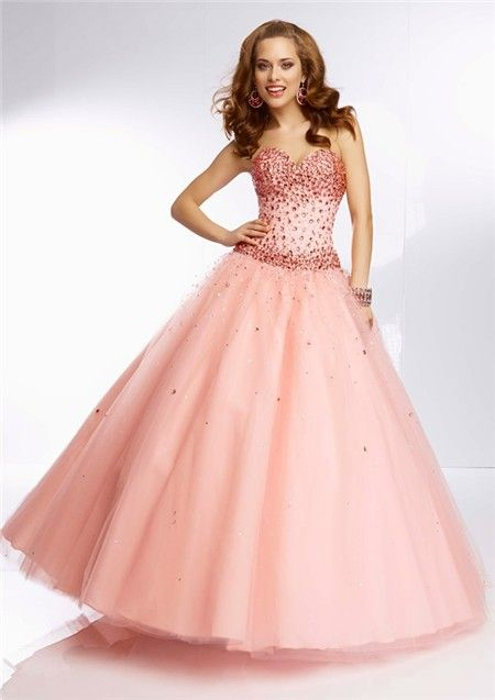 Coral Prom Dresses Ball Gown