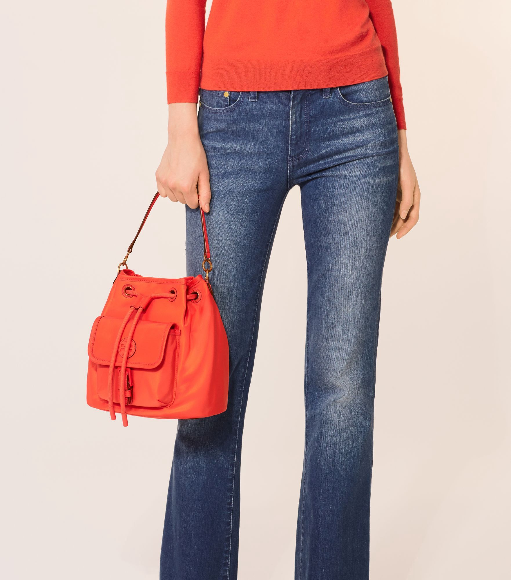 adc0c33f764b TORY BURCH SCOUT DRAWSTRING CROSS-BODY.  toryburch  bags  shoulder bags  hand  bags  leather  bucket  nylon