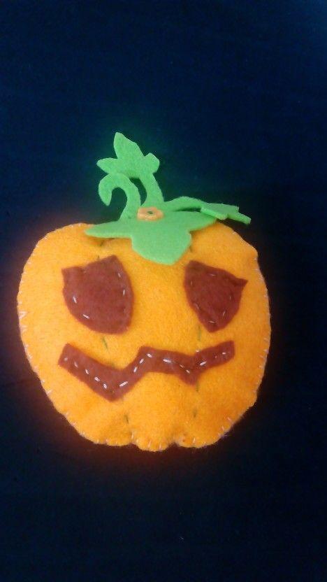 Abóbora de Halloween em feltro