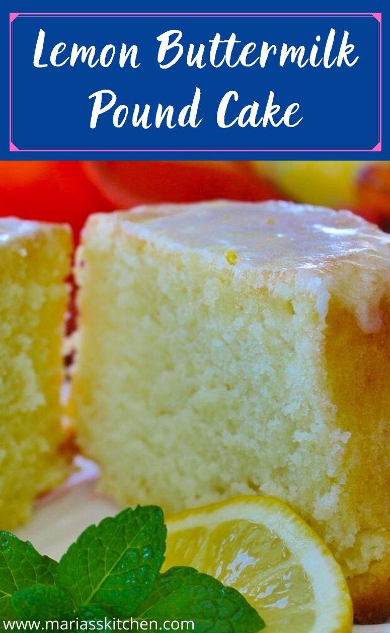 Lemon Buttermilk Pound Cake With Lemon Glaze Maria S Kitchen In 2020 Lemon Buttermilk Pound Cake Buttermilk Pound Cake Lemon Bundt Cake Recipe