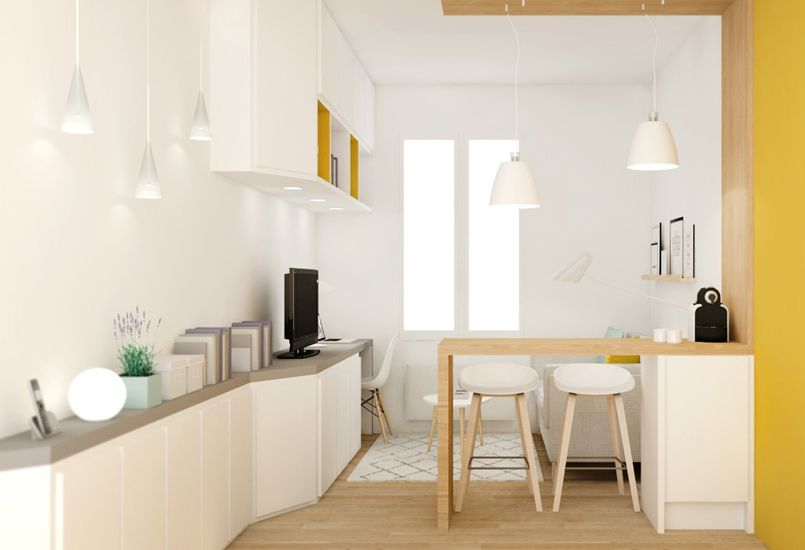 Petite surface am nagement studio d coration lyon - Amenagement cuisine studio ...