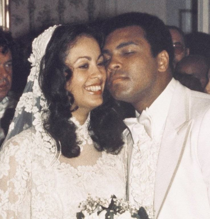 Muhammad Ali + Veronica Porsche on their wedding day in Los Angeles in the summer of 1977. Description from jbeckford.tumblr.com. I searched for this on bing.com/images