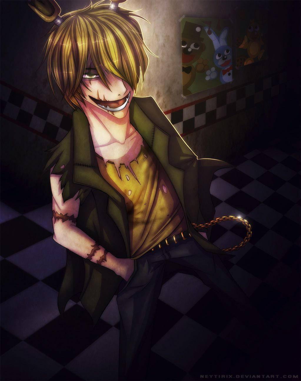 A Killer's Grief and Fury (RWBY X Springtrap Abused Neglected Male