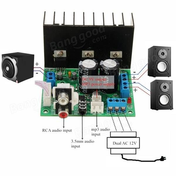 Tda2030a Stereo Amplifier Kit Circuit Diagram - Wiring Diagram Article
