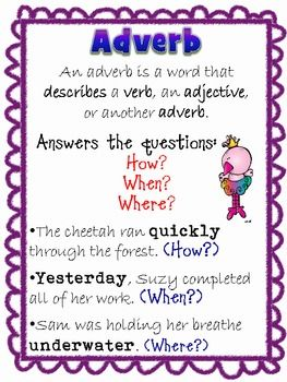 ADVERBS & ADJECTIVES FREEBIE - TeachersPayTeachers.com