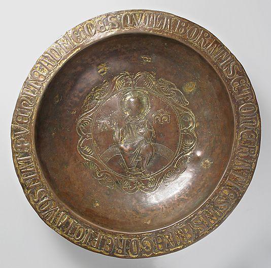 Plate. Date: late 13th century. Culture: Italian. Medium: Copper, traces of gilding, lacquer.