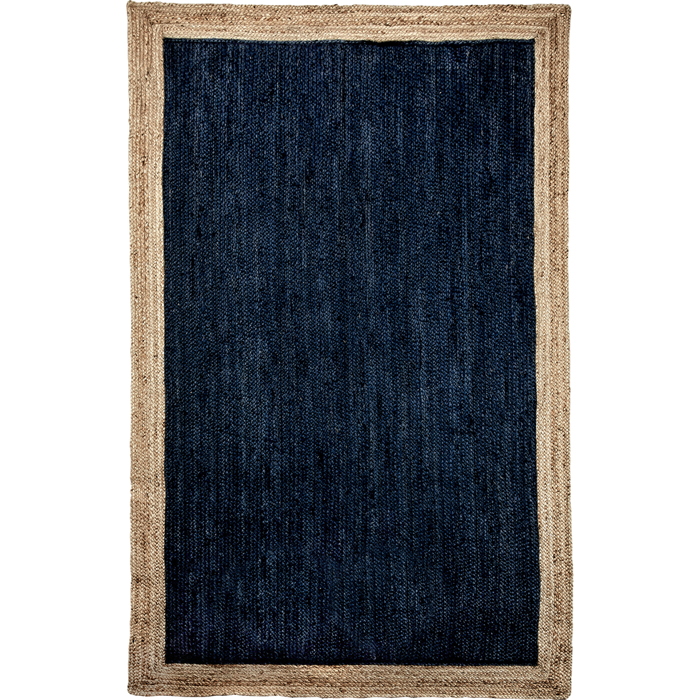 tapis en jute bleu myrte plusieurs