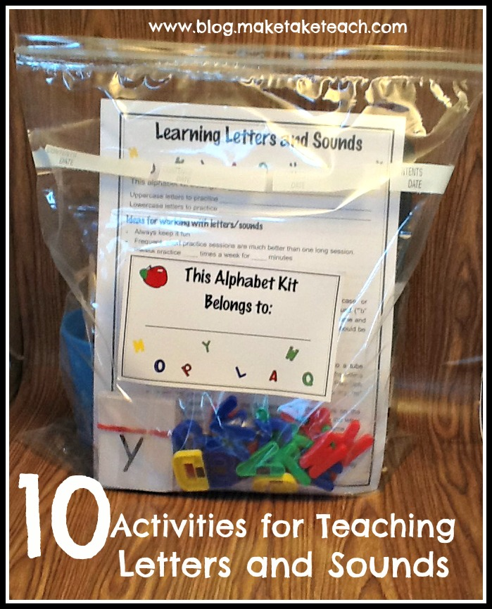 10 Activities for Teaching and Practicing Letters and Sounds is part of Classroom volunteer, Alphabet preschool, Teaching letters, High school education, Preschool literacy, Education kindergarten - So it's late November and we have just a few first graders who have not yet mastered their letters and sounds  For these little firsties, we needed to readjust their intervention plan and bump it up a knotch in terms of intensity  It's always difficult to find time in a jampacked school day, but mastering letters …