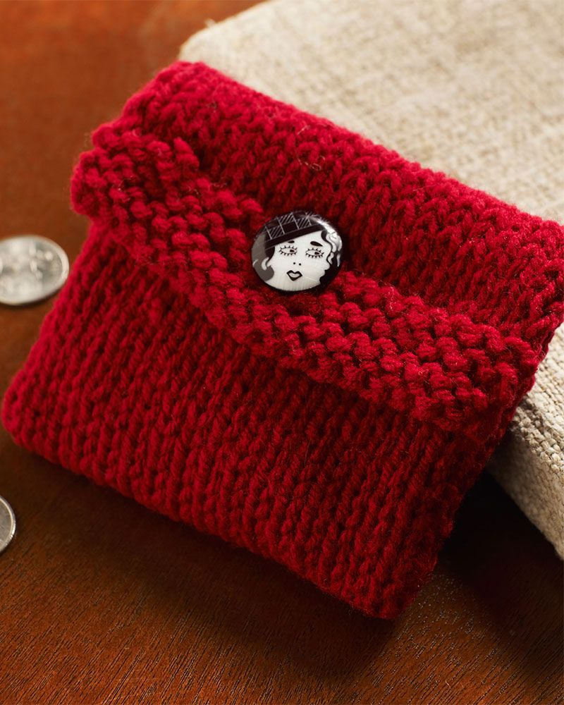 Easy Knitting Projects For Gifts : This easy beginner project is perfect for coins stitch