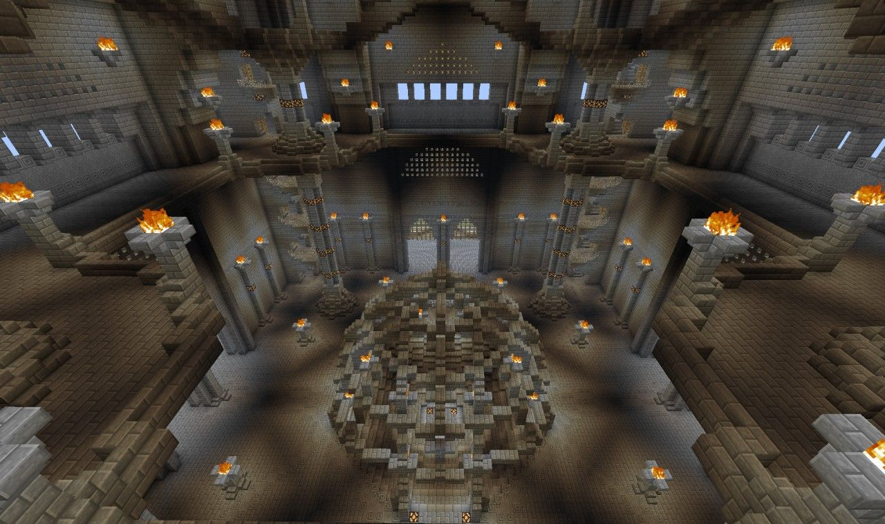 Awesome Minecraft Castle Interior