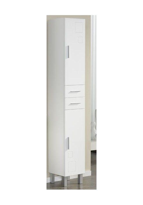 Columna auxiliar kimito blanco 30 cm de 2 puertas y 2 for Mueble columna bano barato