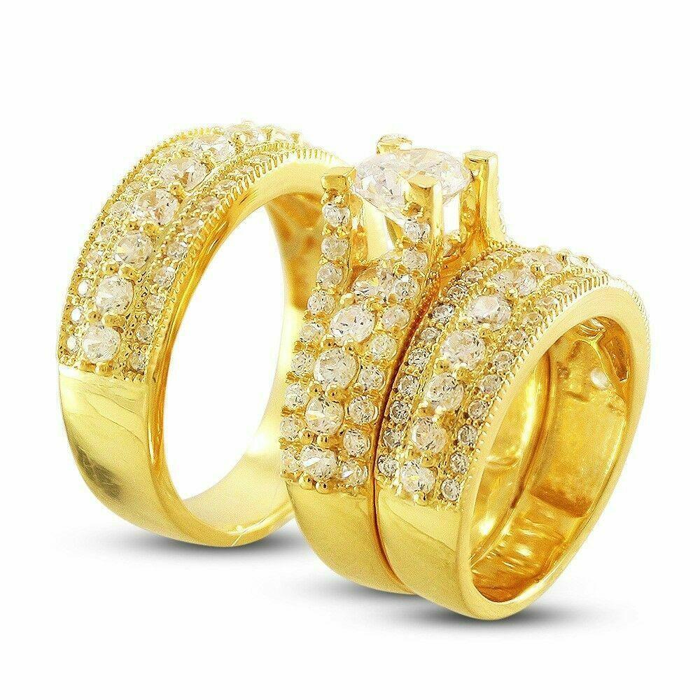 32++ Yellow gold wedding ring sets ideas