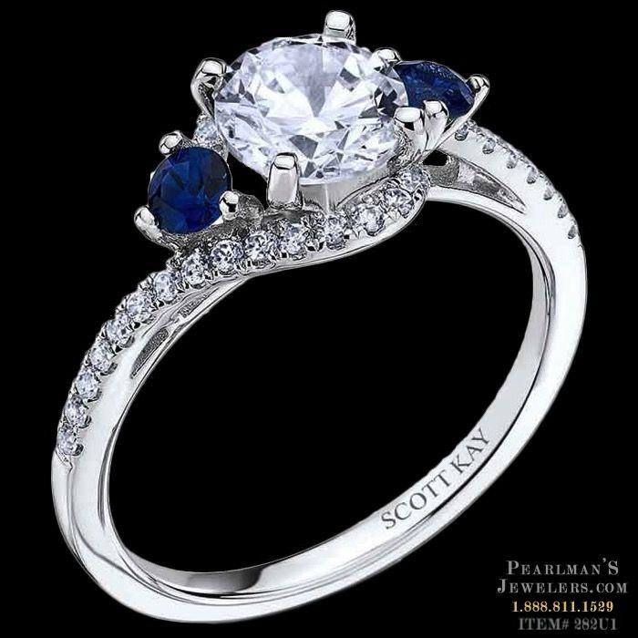 Scott Kay Jewelry - Blue sapphire diamond ring | Scott kay, Luxury ...
