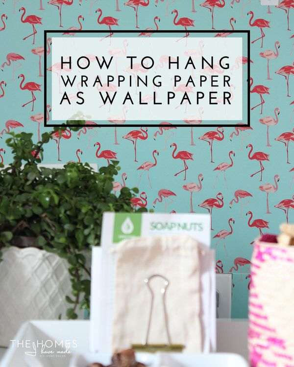 ff29034afc9e Tips and tricks for hanging wrapping paper as wallpaper. Great  renter-friendly solution to blank walls!