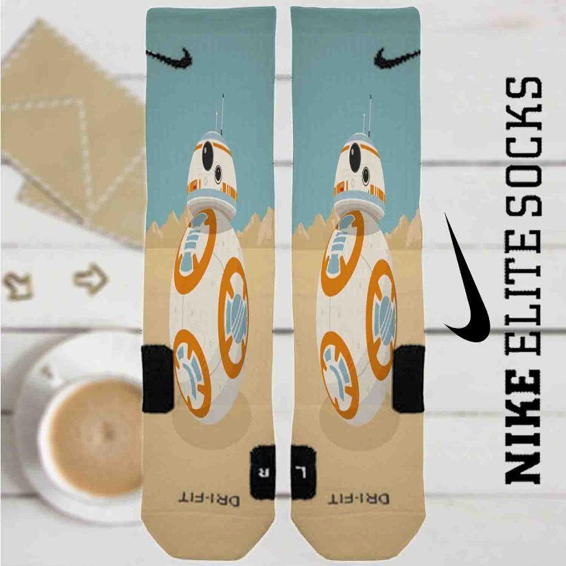 884b55d0e38d Star Wars The Force Awakens BB8 Custom Nike Elite Socks