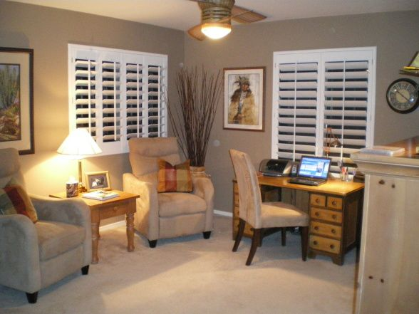 Plantation Shutters Paint Glidden Chatam Tan