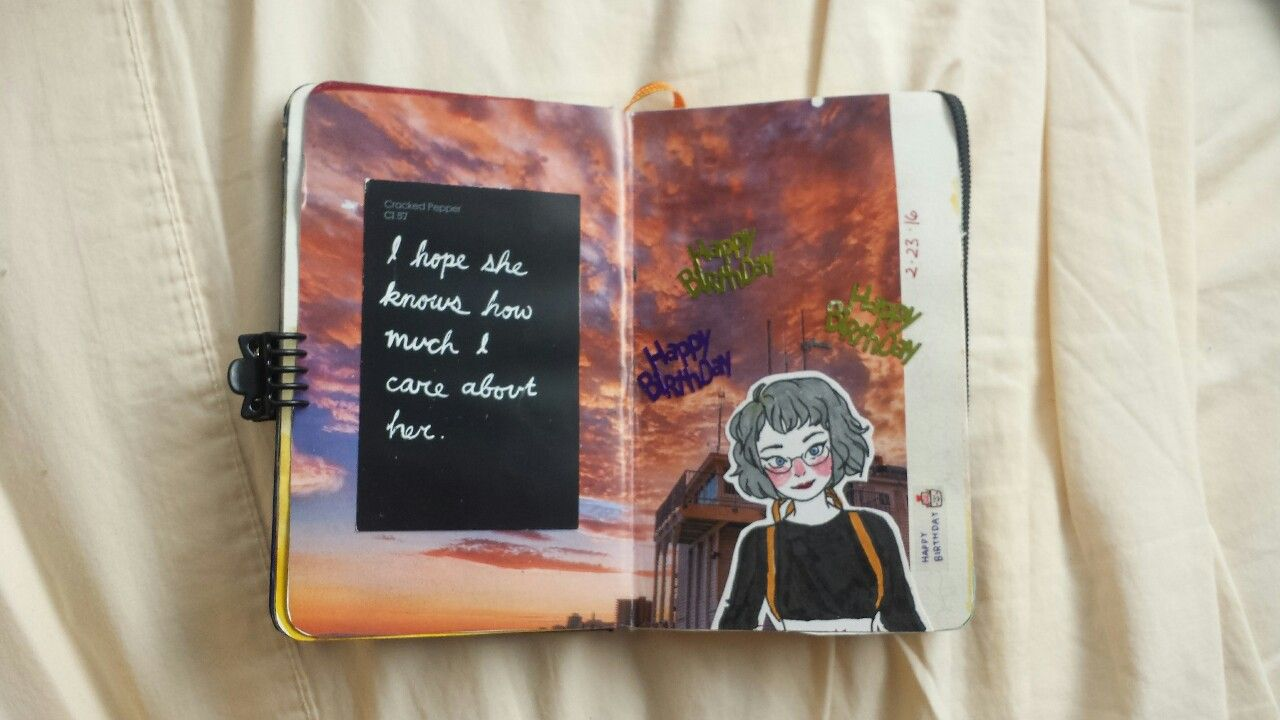 """kawaii-fucker: """" I never posted any pictures from my last art journal but I think I'm going to start posting the pages out of my new one! """""""